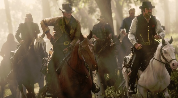 Red Dead Redemption 2 stars Arthur Morgan (left) and gang leader Dutch Van Der Linde.