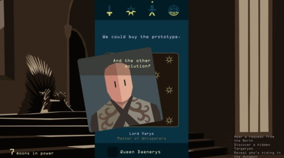 Reigns: Game of Thrones has characters that respond to your Face ID.