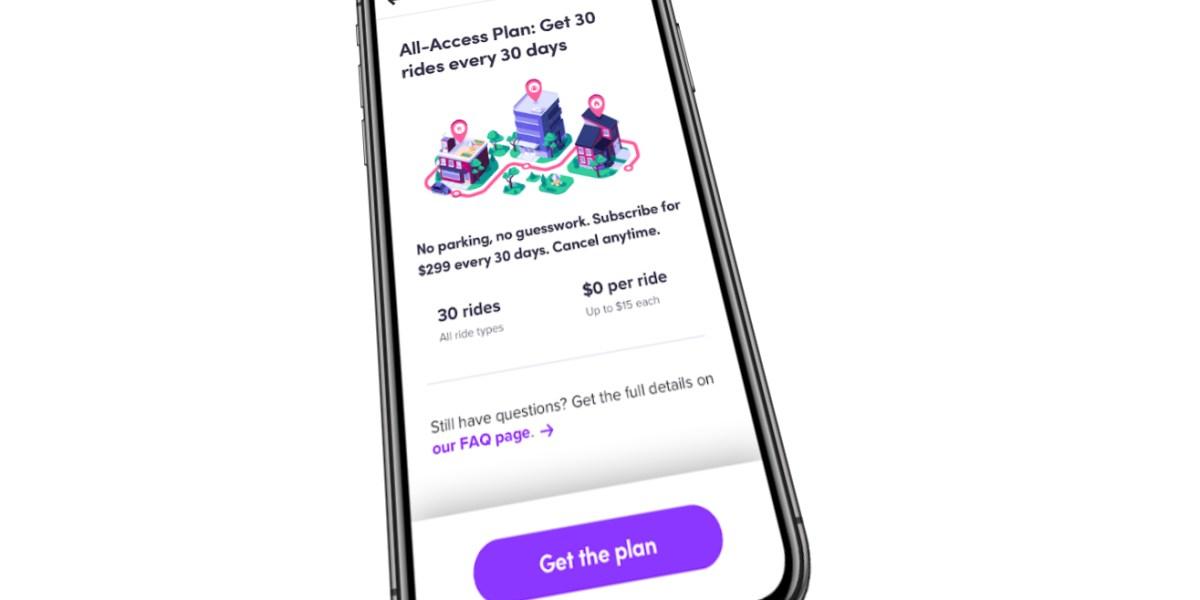Lyft: All-access plan