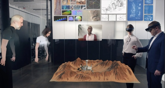Spatial enables collaboration in AR.