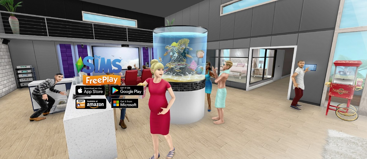 The Sims FreePlay mobile game gets augmented reality with Brilliant Backyards up...
