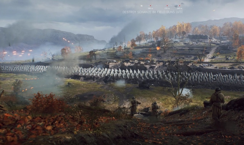 A frightening fortification to take over in Tirailleur in Battlefield V.