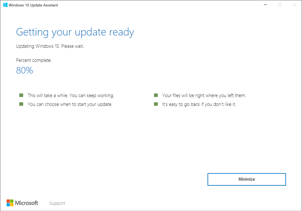 microsoft windows 10 upgrade assistant