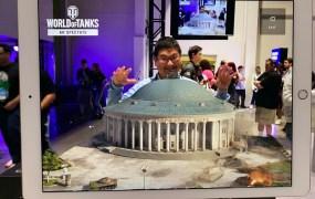 Dean Takahashi inside World of Tanks AR Spectate.