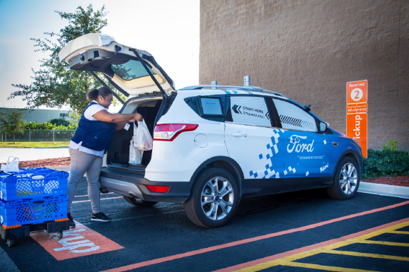 Ford Walmart autonomous cars