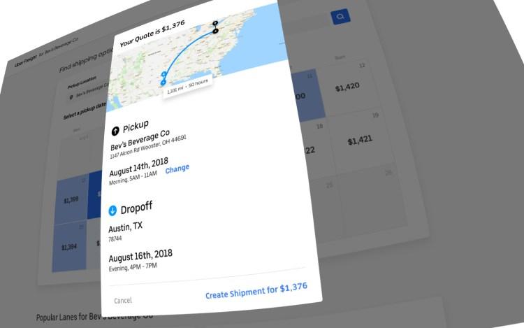 Uber Freight: Create Shipment