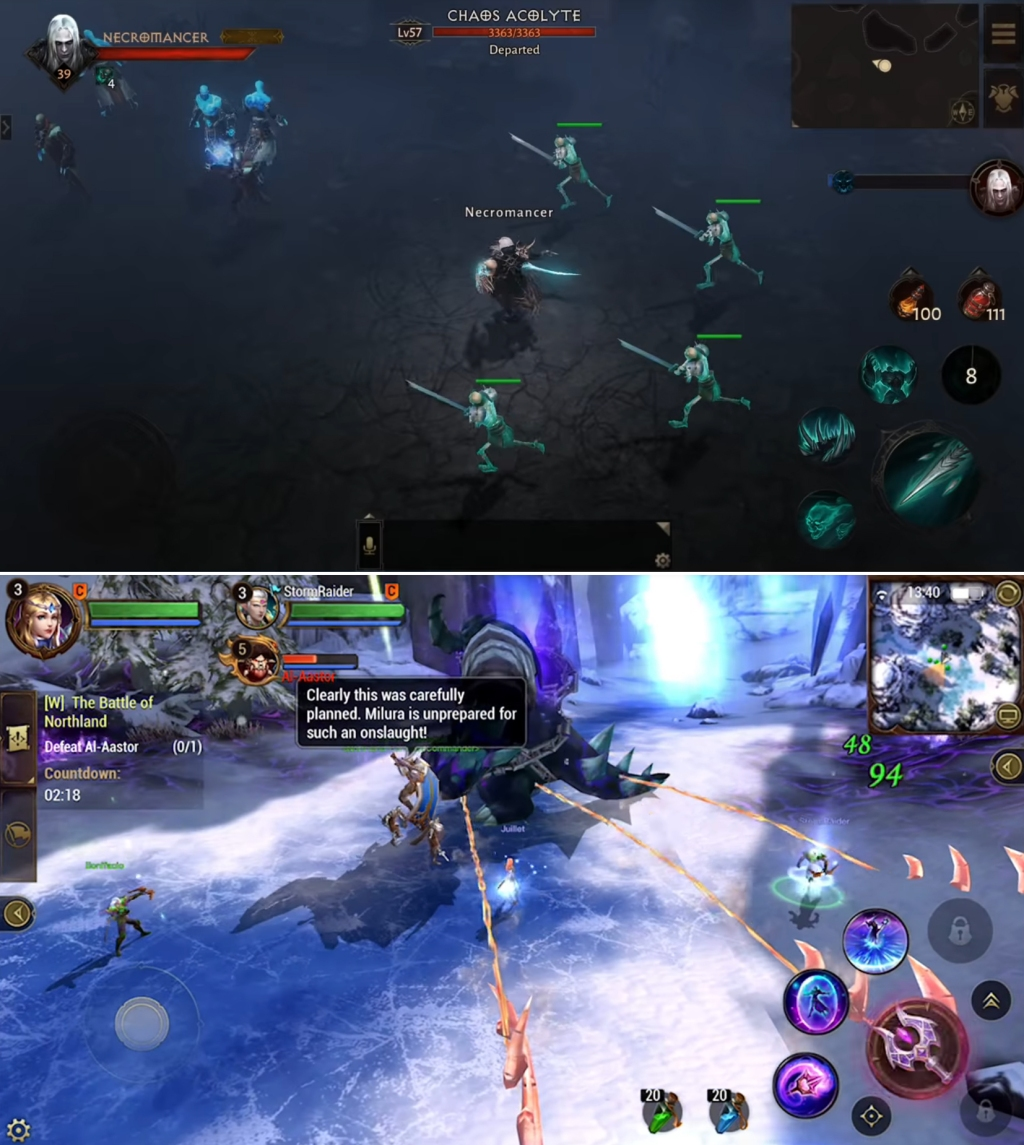 Diablo: Immortal looks a lot like Crusaders of Light ... which is trying to look like Diablo.