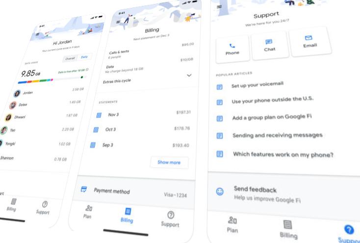 Google Fi app for iOS