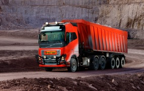 Volvo Trucks is now being used commercially to transport limestone