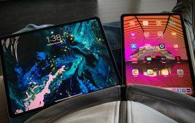 Apple's third-generation 12.9-inch iPad Pro (left) and new 11-inch iPad Pro.