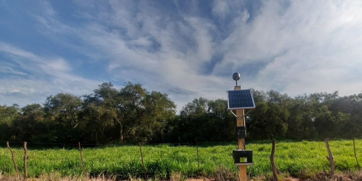 One of Understory's weather stations, deployed in the field.
