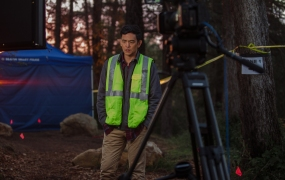 Behind the scenes of the video game-inspired Searching, starring John Cho.