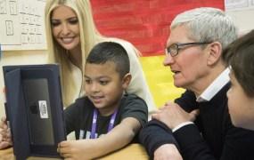 Tim Cook and Ivanka Trump visit Idaho's Wilder School District.