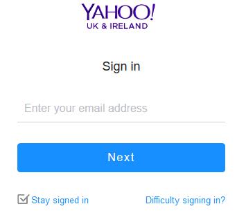 yahoo mail login ireland and uk