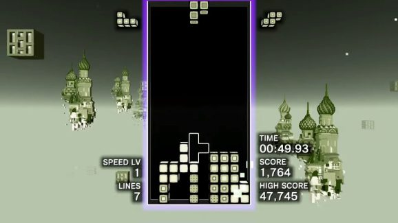 Tetris Effect has a hidden Game Boy level