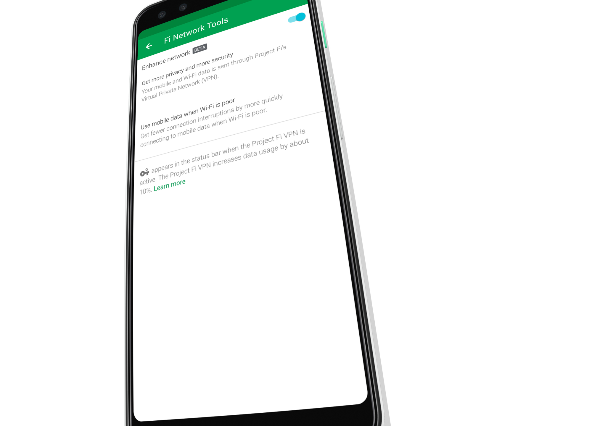 Google launches 'enhanced network' for Project Fi with VPN