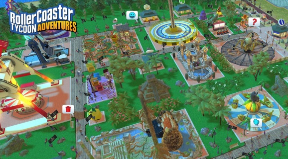 Atari's upcoming Rollercoaster Tycoon Adventures.