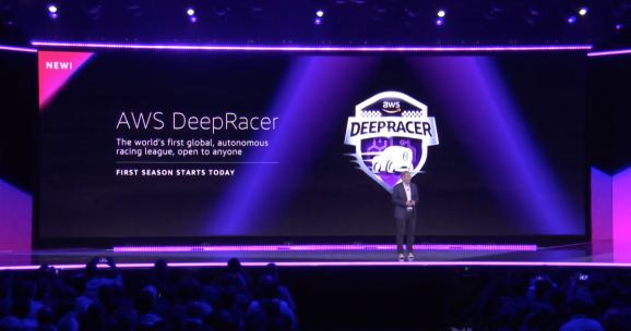 AWS CEO Andy Jassy announces the launch of the DeepRacer League
