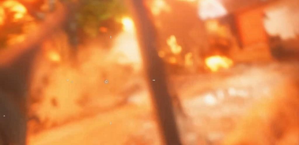 Caught in a blast in Battlefield V.