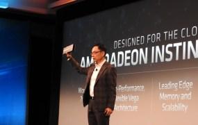 David Wang introduces AMD's first 7-nanometer GPU.