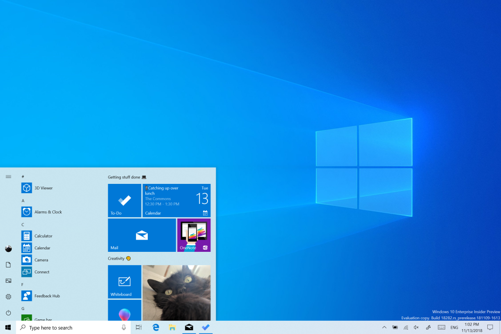 Microsoft releases new Windows 10 preview with light theme