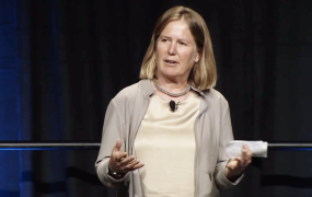 Diane Greene speaks at Google I/O in 2013.