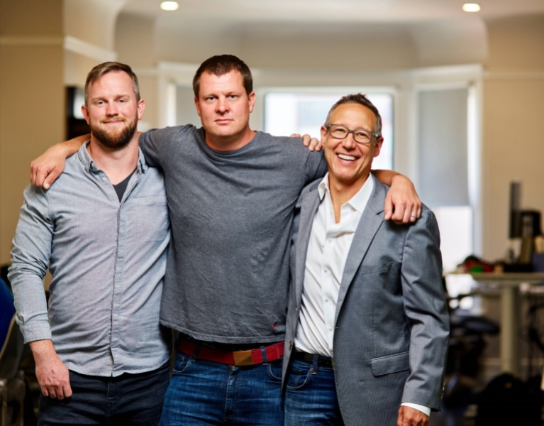 Left to right: Drivetime founders Cory Johnson (CTO), Niko Vuori (CEO) and Justin Cooper (Chief Creative Officer).