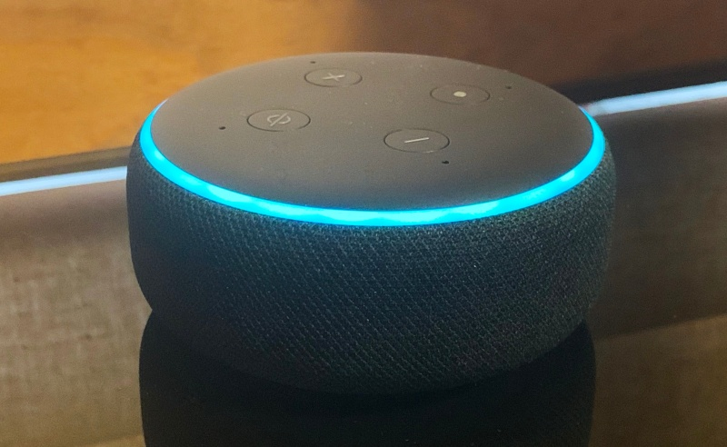 The third-generation Echo Dot.
