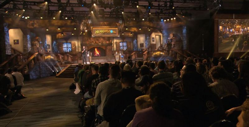 The Hearthstone stage at Blizzcon 2018.