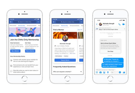Facebook's mentorship tool