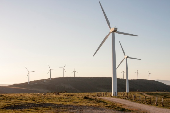 National Grid is investing in windmills in Galicia, Spain.