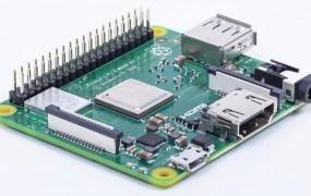 The Raspberry Pi 3 Model A+.