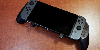 The Satisfye Pro Gaming Grip for the Nintendo Switch.