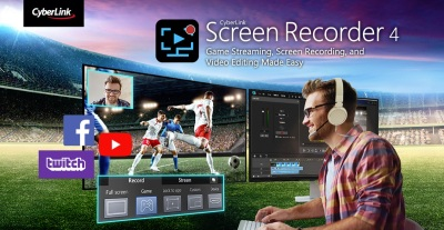 CyberLink's Screen Recorder 4 streams, edits, and captures