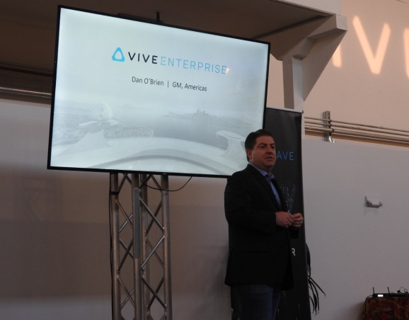 Dan O'Brien of HTC says the Vive Focus is going worldwide.