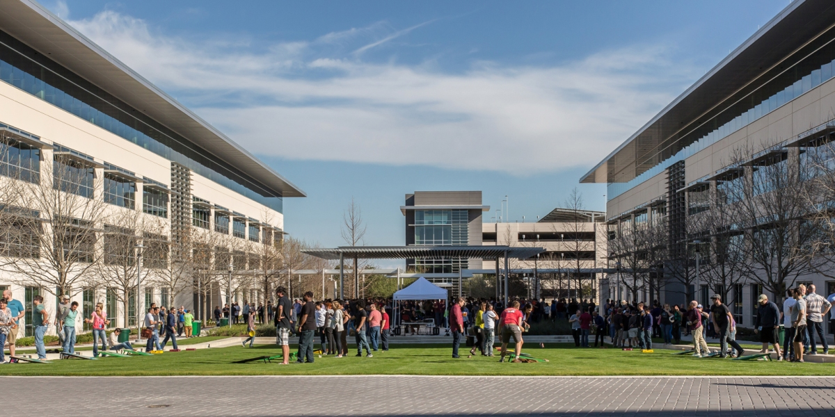 Apple's current Austin campus, which has more than 6,000 employees.