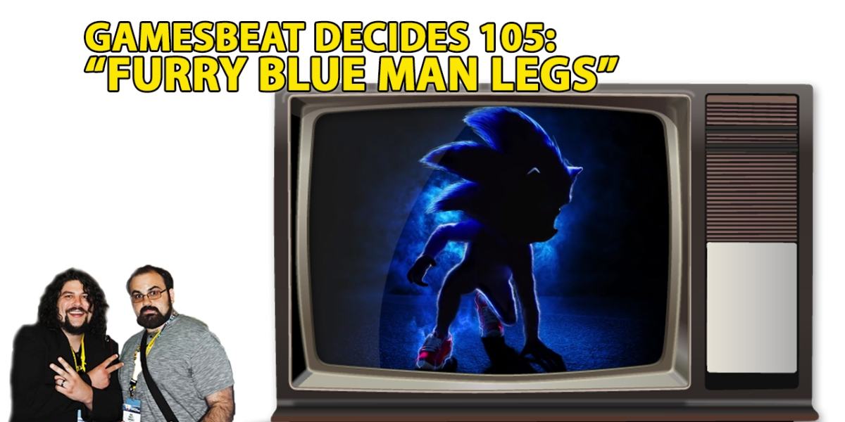 Tobias Funke as Sonic the Hedgehog.
