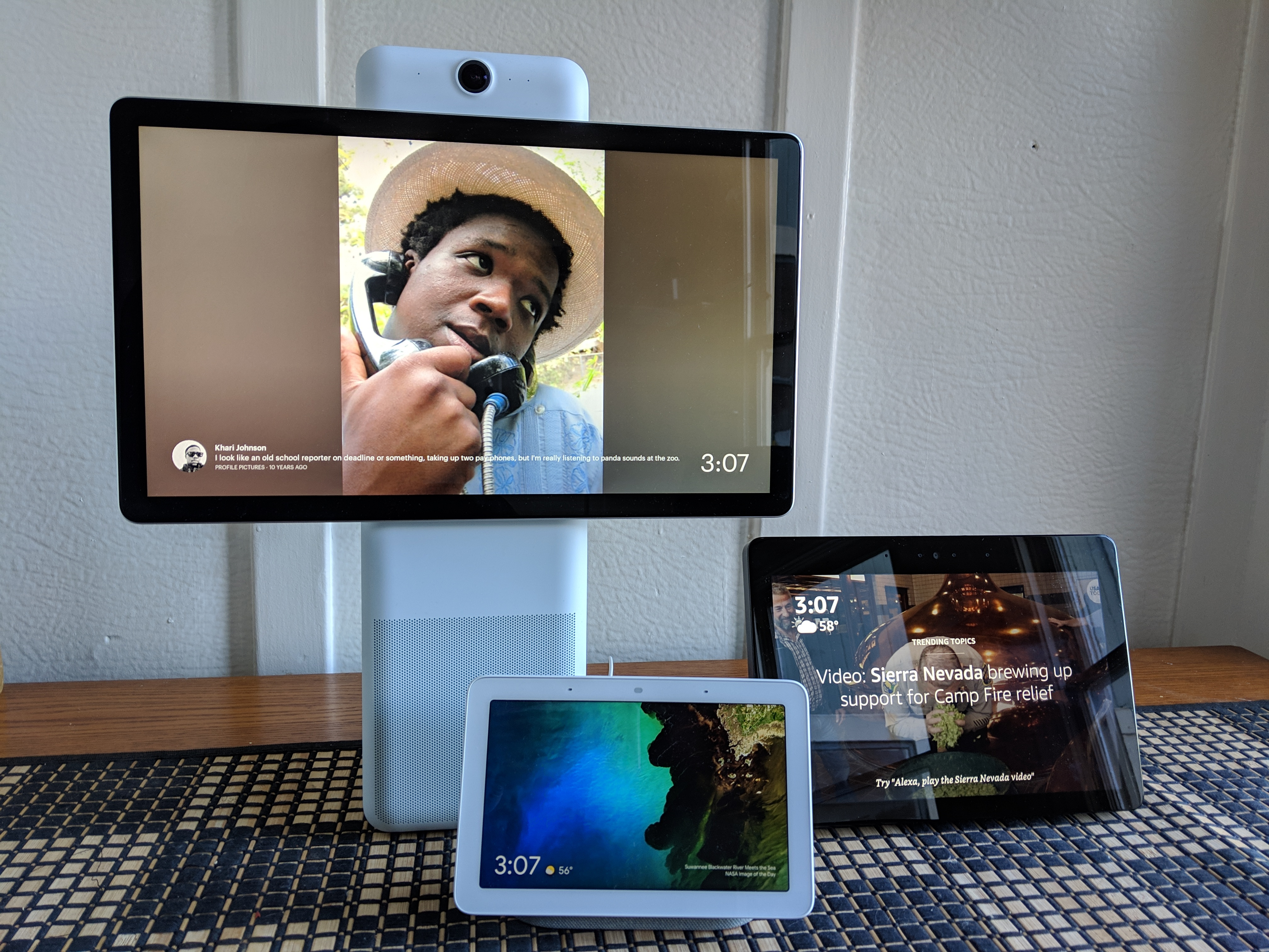 Amazon Echo Show Vs Facebook Portal Vs Google Home Hub Which Speaks To You Venturebeat Using portal without a facebook account will limit some of the features available to you on your smart video calling device. amazon echo show vs facebook portal vs