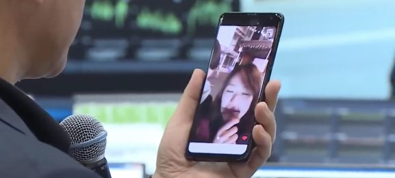 A prototype Samsung 5G phone