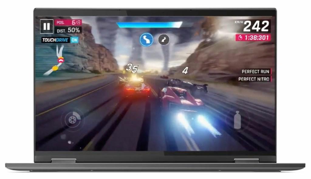 Gameloft's Asphalt 9 running on the Snapdragon 8cx.