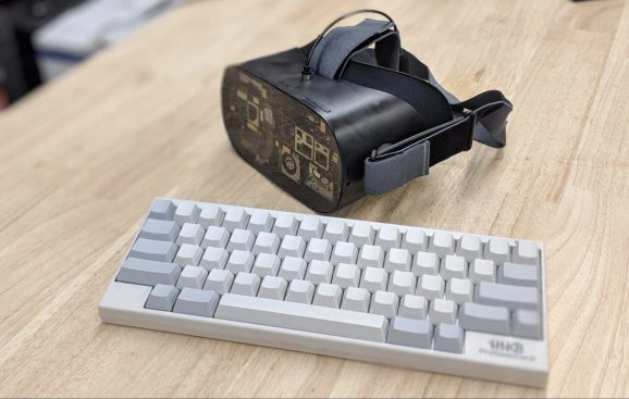 Oculus GoBlack, a modified version of the Go VR headset.