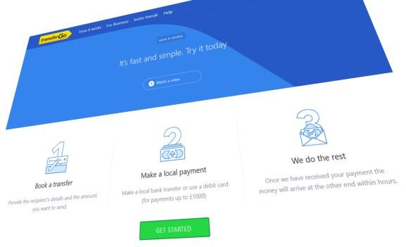 TransferGo homepage