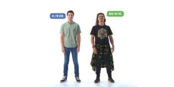 A spoof on the iconic 'Get a Mac' campaign debunks CBD & HTC misconceptions