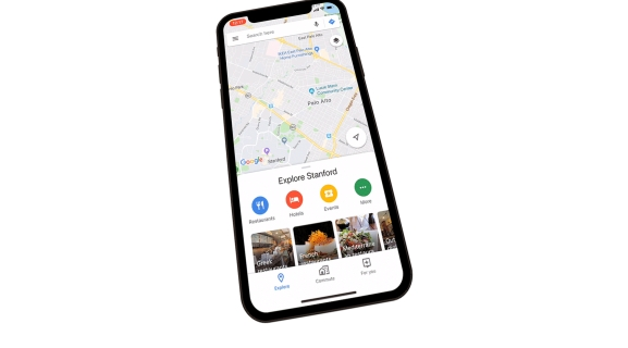 Google Maps: For You tab