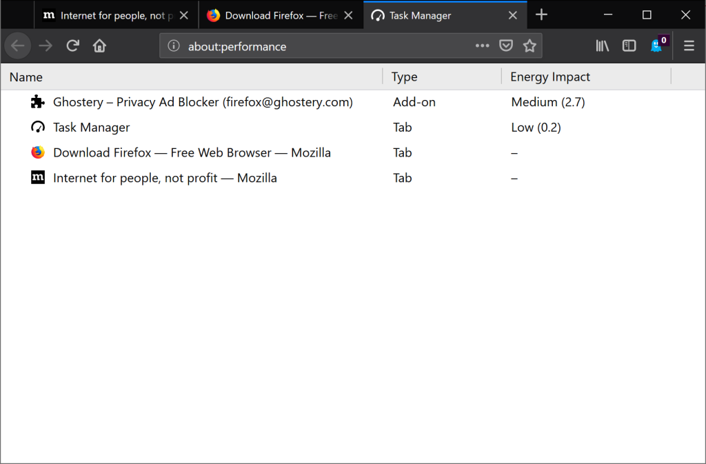 Firefox 64 arrives with feature recommender, multiple tab