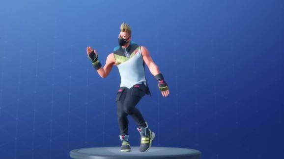 The Swipe It dance from Fortnite.