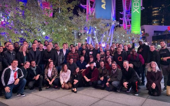 God of War team celebrates victory after the Game Awards.