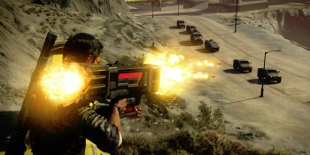 Just Cause 4: How designers blended crazy tornado and grappling hook physics