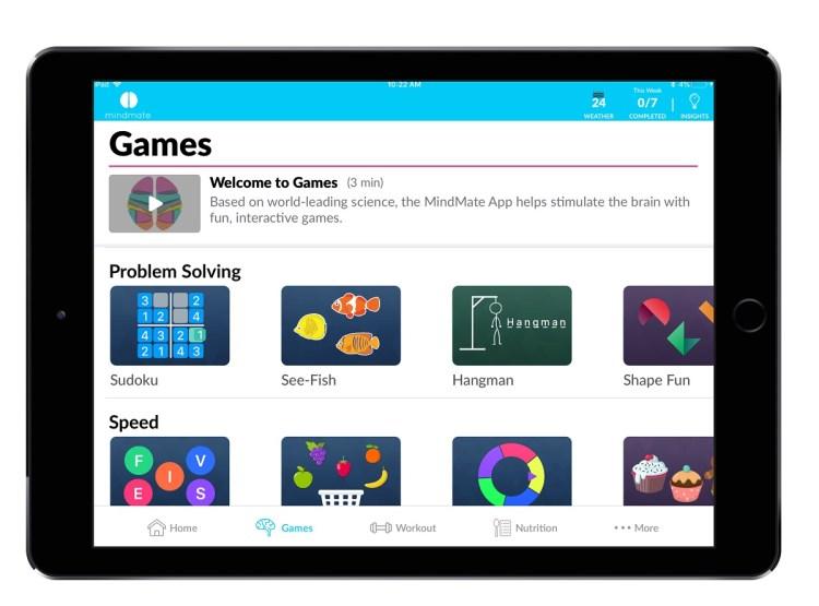 MindMate makes games that help engage older people to keep their mental skills sharp.