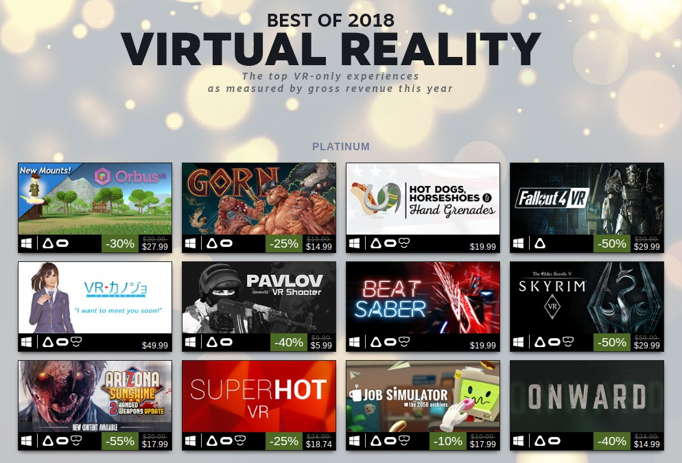 Valve Reveals Steam Vr S 100 Best Selling Games For 2018 Venturebeat